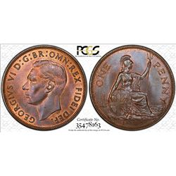 GREAT BRITAIN: George VI, 1936-1952, AR penny, 1951. PCGS MS65
