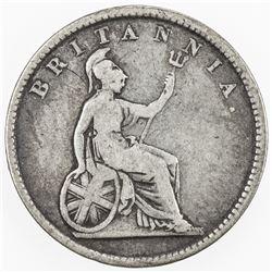IONIAN ISLANDS: AR 30 lepta, 1848, KM-35, key date, Very Good to Fine.