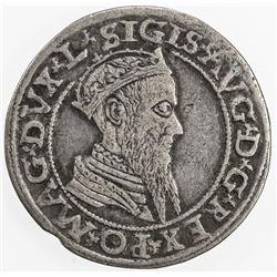 LITHUANIA: Sigismund II August, 1548-1572, AR 4 groschen, 1566. VF