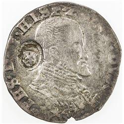 NETHERLANDS: HOLLAND: Philip II, 1555-1598, AR 1/10 filipsdaalder (6.39g), ND (1573-1581). F
