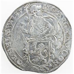 NETHERLANDS: WEST FRIESLAND: AR 48 stuivers (lion daalder) (27.01g), 1637. VF