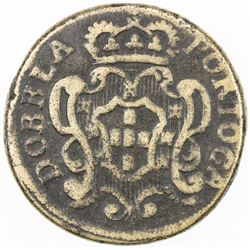 PORTUGAL: Joao V, 1706-1750, coin weight (14.03g), ND. F
