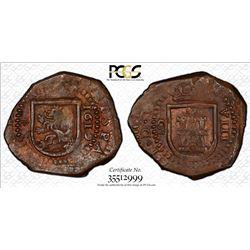 SPAIN: Felipe III, 1598-1621, AE 8 maravedis, Madrid, 1619. PCGS MS62
