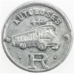SPAIN:Barcelona Aluminum 10 centimos, ND, A. López 1184, Autobuses Roca, EF-AU