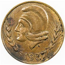 SPAIN:Ibi AE 25 centimos, 1937, KM-1.2, civil war period, VF.