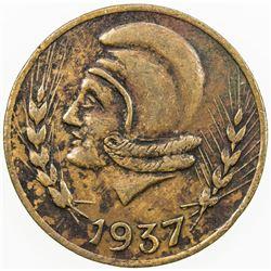 SPAIN:Ibi AE 25 centimos, 1937, KM-1.1, civil war period, VF.