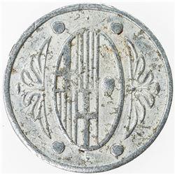 SPAIN: L'AMETLLA DEL VALLES: 50 centimos (0.61g), ND [1937], KM-2.2, aluminum Spainsh Civil War issu
