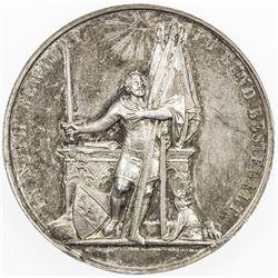 SWITZERLAND: AR medal (32.29g), 1853, Recording of Bern in the Bund, choice EF