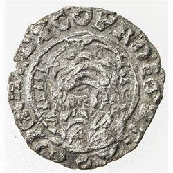 TRANSYLVANIA: Gabriel Bethlen, 1613-1629, AR denar (0.47g), 1625-NB, crude VF