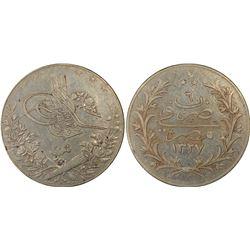 EGYPT: Muhammad V, 1909-1914, AR 20 qirsh, Misr, AH1327 year 6, PCGS EF45 Secure