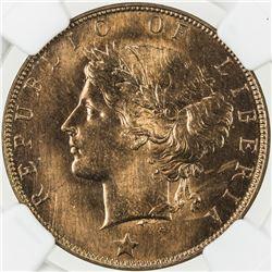 LIBERIA: Republic, AE cent, 1896-H. NGC MS66