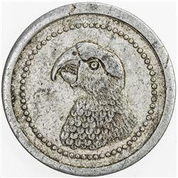 MADAGASCAR: 50 centimes token, ND (1920), KM-Tn2, Andavakoera, head of Parakeet, VF