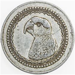 MADAGASCAR: 1 franc token, ND (1920), KM-Tn3, Andavakoera, head of Parakeet, VF