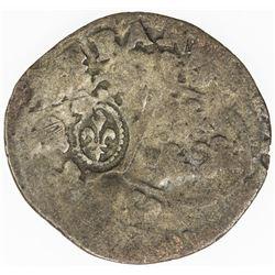 CANADA: Louis XIII, 1610-1643, AR sol marque (1.77g), ND (1640). VF