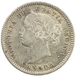 CANADA: Victoria, 1837-1901, AR 10 cents, 1870. AU