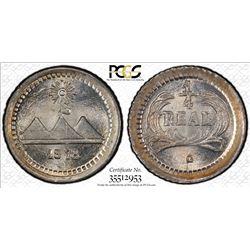 GUATEMALA: Republic, AR 1/4 real, 1878. PCGS MS67