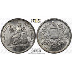 GUATEMALA: Republic, AR 2 reales, 1898. PCGS MS62