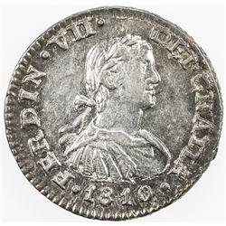 MEXICO: Fernando VII, 1808-1821, AR 1/2 real, 1810-Mo. AU