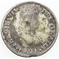 MEXICO: Fernando VII, 1808-1821, AR 8 reales, Durango, 1821-D. F