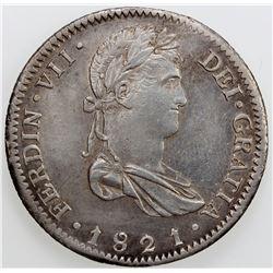 MEXICO: Fernando VII, 1808-1821, AR 8 reales, 1821/18-Ga. EF