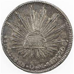 MEXICO: AR 8 reales, 1833-Zs. EF