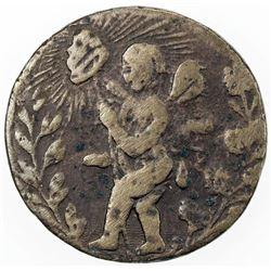 MEXICO: brass 1/8 real, Michoacan, 1837, Municipale Morelia, Grove-598, cf. Fernandez pg. 199, Fine