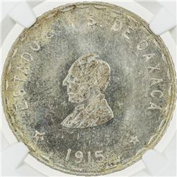 MEXICO: OAXACA: Revolutionary Issue, AR 2 pesos, 1915. NGC MS63