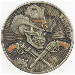 """UNITED STATES: 5 cents, 1937, EF, modern """"Hobo Nickel"""" carved into Buffalo"""