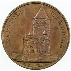 UNITED STATES: AE medal (20.56g), ND (ca. 1890), Garfield Memorial in Cleveland, AU