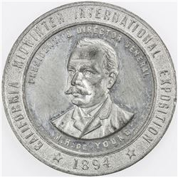 UNITED STATES: medal (15.36g), 1894, California Midwinter Exhibition, EF