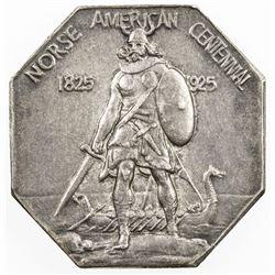 UNITED STATES: AR medal (19.31g), 1925. EF, Norse American Centennial, choice EF