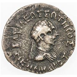 ANCIENT INDIA: INDO-GREEK: Menander I, ca. 165-130 BC, AR drachm, Pushkalavati. F-VF