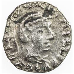 INDO-GREEK: Strato II, ca. 40-15 BC, AR drachm, Jammu, VF