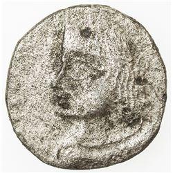 ANCIENT INDIA: PARATA RAJAS: Bhimajhunasa, ca. AD 70, BI drachm (1.55g). F