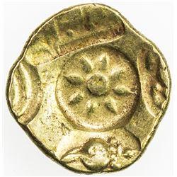 MEDIEVAL INDIA: YADAVAS OF DEVAGIRI: Ramachandra, 1270-1311, AV pagoda (3.75g). VF