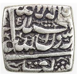 MUGHAL: Akbar I, 1556-1605, AR square rupee (Ahmadabad), AH995. F-VF