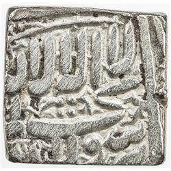 MUGHAL: Akbar I, 1556-1605, AR square rupee (Fathpur), AH1000. F-VF