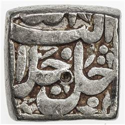 MUGHAL: Akbar I, 1556-1605, AR square rupee (9.74g), Surat, Ilahi 38. F