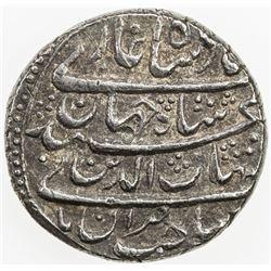 MUGHAL: Shah Jahan I, 1628-1658, AR rupee (11.35g), Surat, AH1038. EF