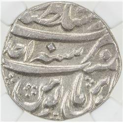 MUGHAL: Alamgir II, 1754-1759, AR rupee (11.41g), Lahore, year one (ahad). NGC MS61