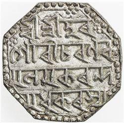 ASSAM: Gaurinatha Simha, 1780-1796, AR rupee (11.32g), SE1707 year 6 (1785). EF