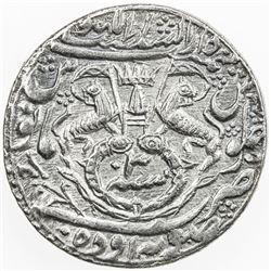 AWADH: Wajid Ali Shah, 1847-1856, AR rupee (11.09g), Lucknow, AH1237 year 3. EF