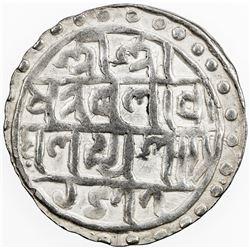 COOCH BEHAR: Nara Narayan, 1555-1587, AR rupee, SE1477 (1555). EF