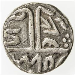 MEWAR: Anonymous, ca. 1760-1820, AR rupee (11.31g), Chitor, ND. EF