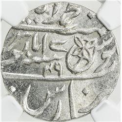 BENGAL PRESIDENCY: AR rupee, Muhammadabad Benares, AH1229 year 17-49. NGC MS65