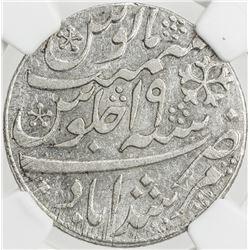 BENGAL PRESIDENCY: AR rupee, Murshidabad, year 19. NGC AU58