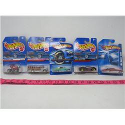 HOT WHEELS TOY CARS (QTY 5)