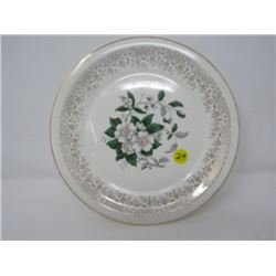 "COLLECTOR PLATE *22K GOLD* (DOGWOOD, 9.5"")"