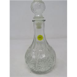 "WINE DECANTER (CUT GLASS; 10"")"