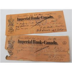 BANK ORDERS (IMPERIAL BANK OF CANADA) *1936 & 1939*